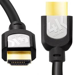Sentivus 4K HDMI Kabel 2m (Ultra HD, 3D und ARC) auf HDMI 1.3, 1.4 und 2.0 kompatibel mit High Speed Ethernet und 3-fach Schirmung schwarz - 1