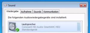 Sound zurück auf PC schalten