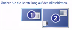 windows bildschirmanzeige